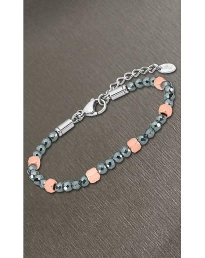 Bracelet Lotus style LS2126-2/3 billes facettes