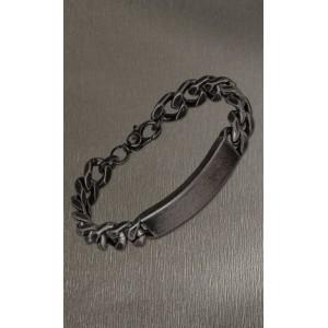 Bracelet Lotus style LS2133-2/1 noir gravable