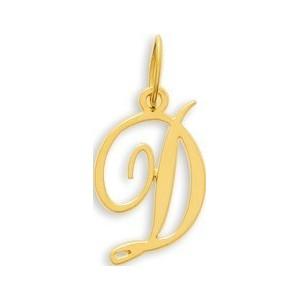 Pendentif Or initiale lettre D
