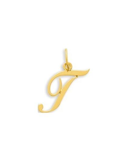 Pendentif Or initiale lettre T