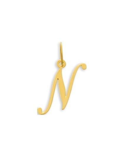 Pendentif Or initiale lettre N