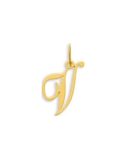 Pendentif Or initiale lettre V