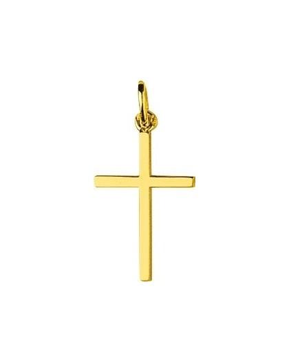 Pendentif Or croix baton simple