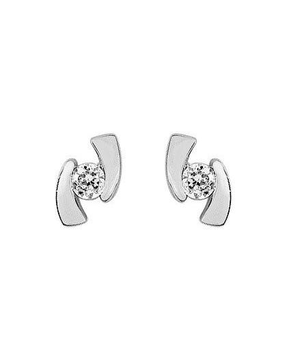 Boucles Oreilles Or gris oxydes zirconium