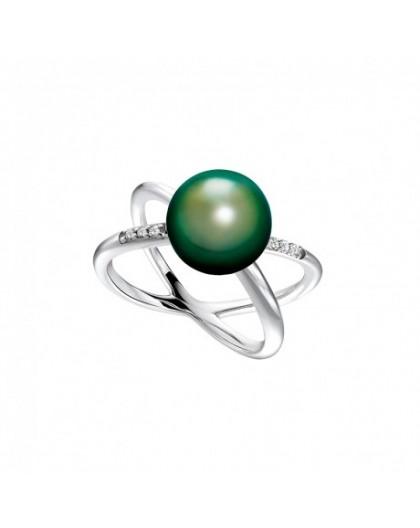 Bague IzaB ligne Corail perle de tahiti diamants