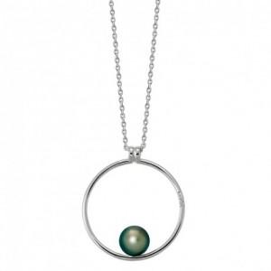 Collier IzaB ligne Epure perle de tahiti diamant