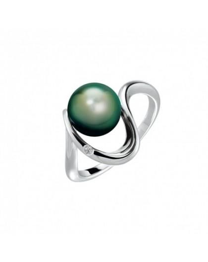 Bague IzaB ligne Lagune perle de tahiti diamant