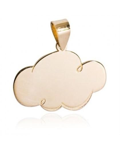 Pendentif Or motif nuage gravable