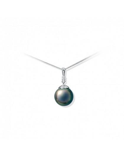 Collier IzaB ligne Epur perle Tahiti Diamants