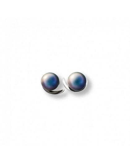 Boucles oreilles IzaB ligne Epure perle de tahiti