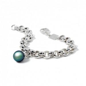 Bracelet IzaB ligne Epure perle de Tahiti