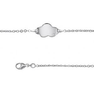 Bracelet identité bébé argent motif nuage gravable
