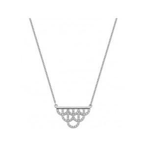 Collier argent motif royale oxydes zirconium