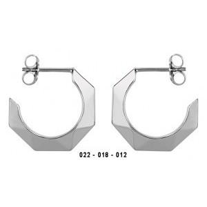 Boucles oreilles argent 1/2 créoles modernes