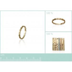 Bague Plaqué or anneau semainier