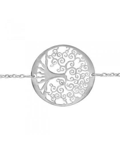 Bracelet argent Arbre de vie ajouré stylisé