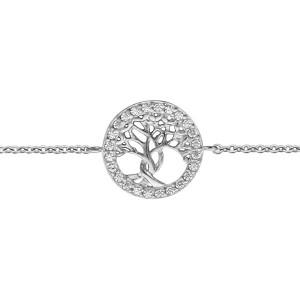 Bracelet argent Arbre de vie oxydes zirconium