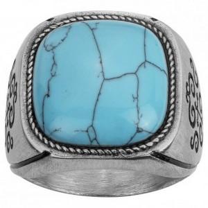 Bagues Acier Legend Turquoise reconstituée