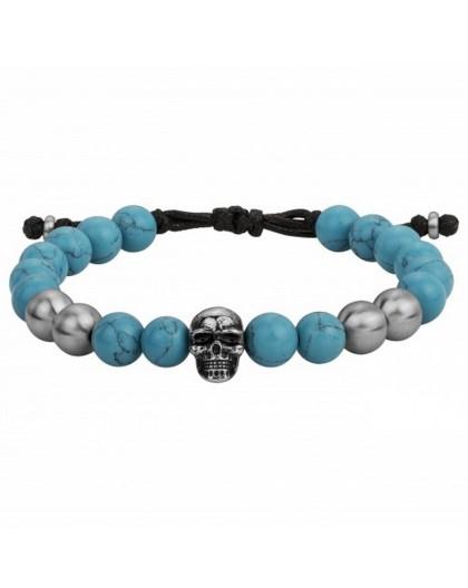 Bracelet Acier Legend turquoise reconstituée
