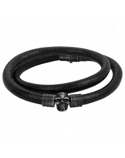 Bracelet Acier Legend pvd et cuir