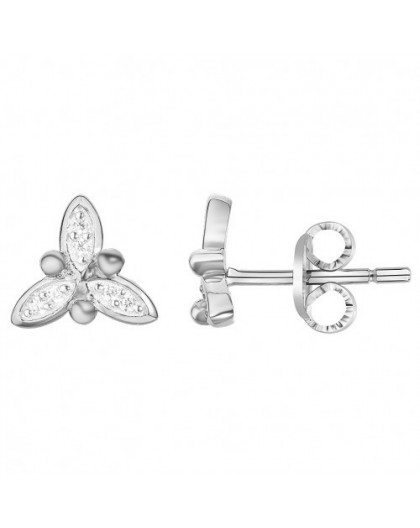 Boucles d'oreilles Argent florales oxydes