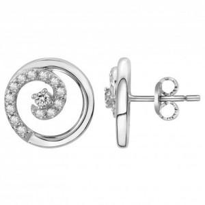 Boucles d'oreilles argent et oxydes motif cercles