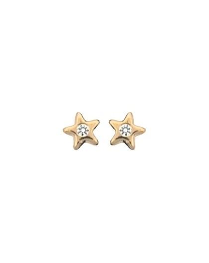 Boucles oreilles Or à vis étoiles oxydes