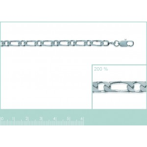 Chaine argent maille alternée 1+1 3.5mm