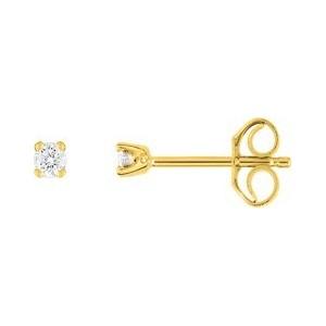 Boucles oreilles diamants 4 griffes 0.06 carat
