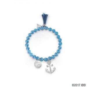 Bracelet Guess UBB85034-S perles bleues étirable