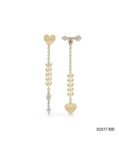Boucles oreilles Guess UBE85025 coeur flêche dorés