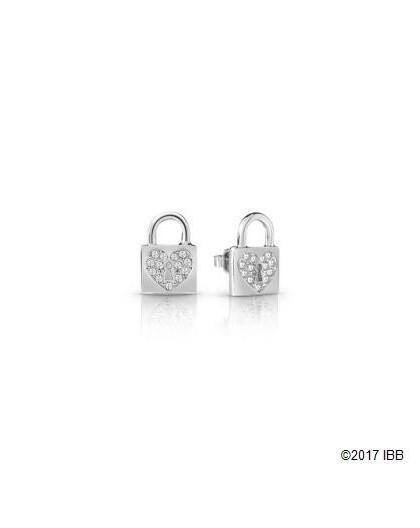 Boucles oreilles Guess UBE85053 cadenas argenté