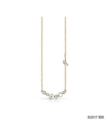 Collier Guess UBN84081 strass doré