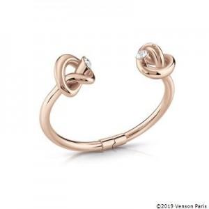 Bracelet jonc Guess UBB29017-S double noeuds rosés