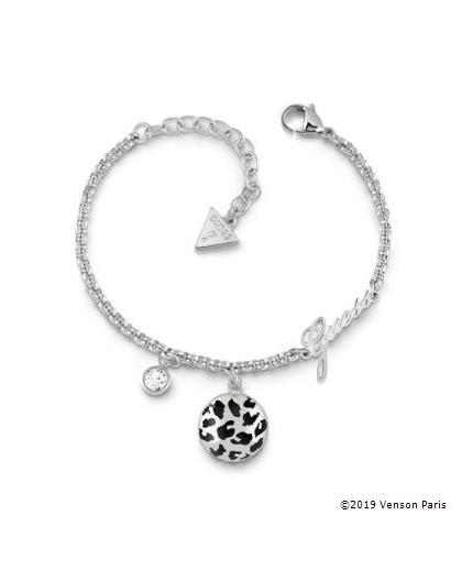 Bracelet Guess UBB29135-S léopard argenté