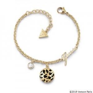Bracelet Guess UBB29136-S léopard argenté
