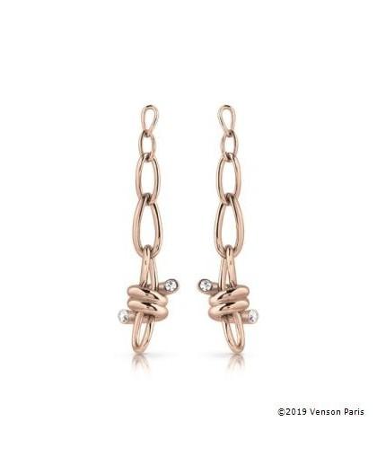 Boucles oreilles Guess UBE29017 noeuds rosés