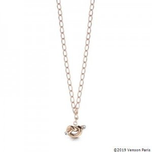 Collier Guess UBN29014 noeud rosé