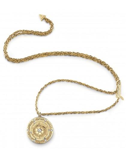 Collier Guess UBN79160 médaille florale doré