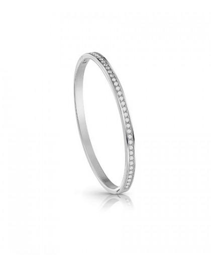 Bracelet jonc Guess UBB28133-S strass argenté