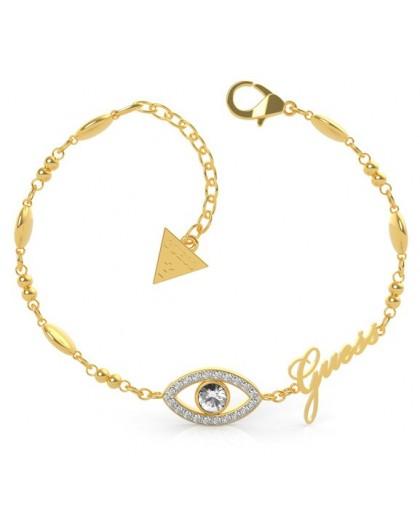 Bracelet Guess UBB29001-S oeil strass doré