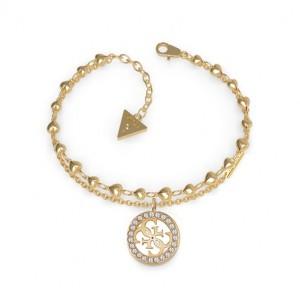 Bracelet Guess UBB78026-S logotypé doré
