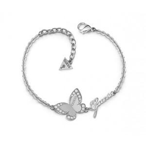 Bracelet Guess UBB78049-S papillon argenté