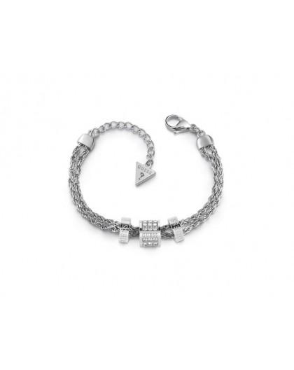 Bracelet Guess UBB78058-S cylindres strass argenté