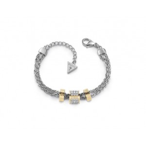 Bracelet Guess UBB78059-S cylindres strass dorés