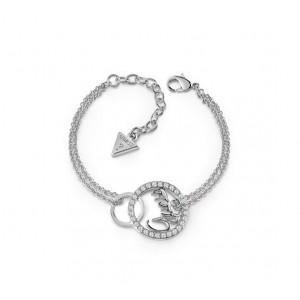 Bracelet Guess UBB84143A-S cercles strass argenté