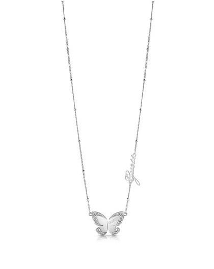 Collier Guess UBN78024 papillon argenté