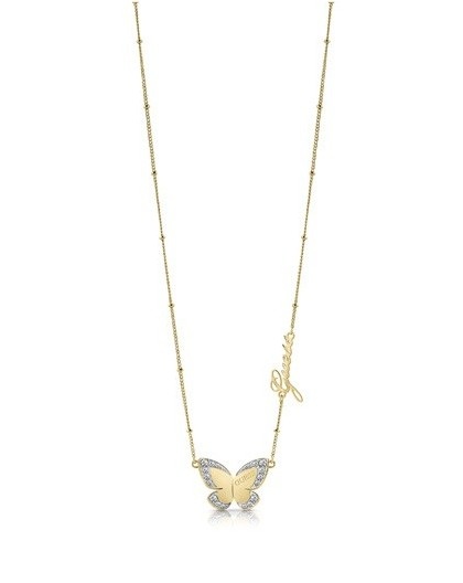 Collier Guess UBN78025 papillon doré