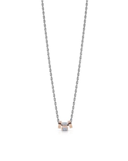 Collier Guess UBN78040 cylindre rosé