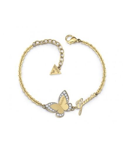 Bracelet Guess UBB78050-S papillon doré